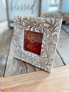 HAND CARVED WOOD PICTURE FRAME - Infinity Raine
