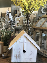 Load image into Gallery viewer, WHITE CHAPEL A-FRAME BIRDHOUSE - Infinity Raine