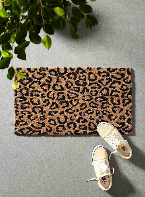 WALK ON THE WILD SIDE LEOPARD SPOT DOORMAT - Infinity Raine