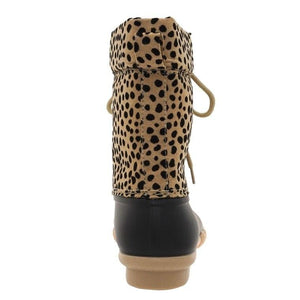 A LITTLE ON THE WILD SIDE CHEETAH PRINT DUCK BOOTS - Infinity Raine