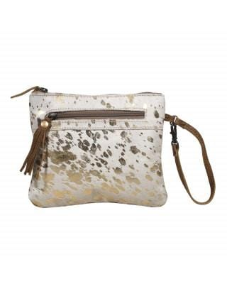 SPOTTED LEATHER POUCH - Infinity Raine