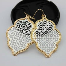 Load image into Gallery viewer, NEVER ENOUGH MIXED METAL FILIGREE EARRINGS- SILVER AND GOLD - Infinity Raine