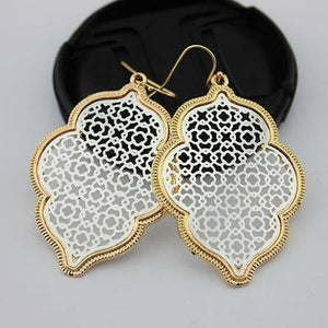 NEVER ENOUGH MIXED METAL FILIGREE EARRINGS- SILVER AND GOLD - Infinity Raine