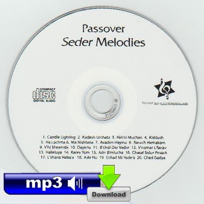 Passover Seder Melodies - Chasal Sidur Pesach