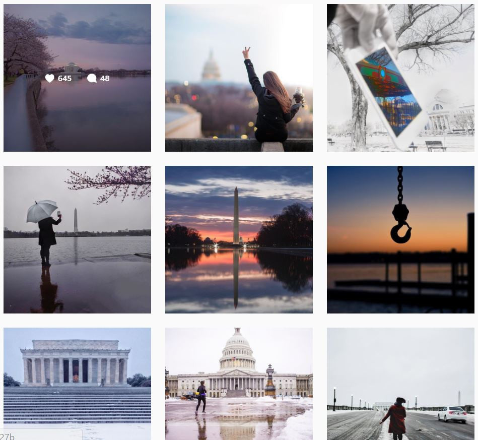 Washington DC Instagram Account