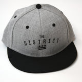 "Washington DC ""The District"" Grey Fitted Flat Brim Hat"