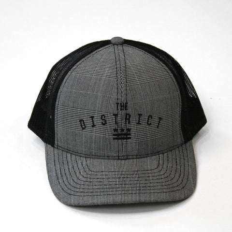 "Washington DC ""The District"" Plaid Trucker Hat"