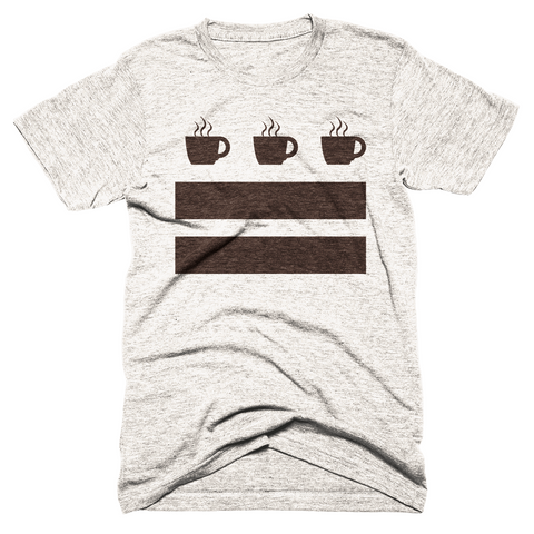 Washington DC Coffee Flag T-shirt