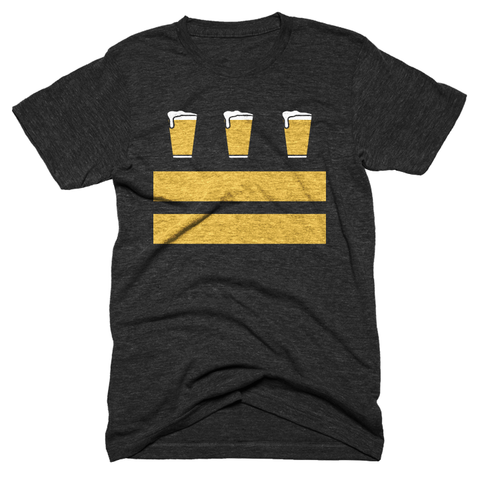 Washington DC beer flag t-shirt