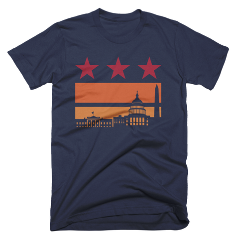 Washington DC flag tshirt