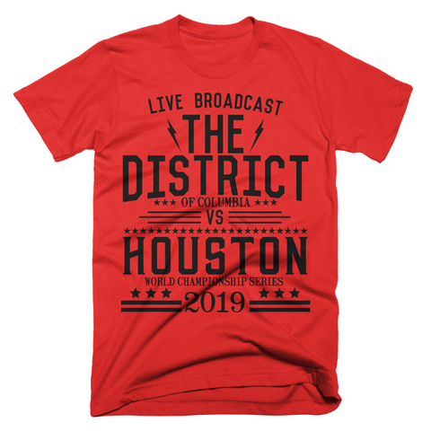 Washington DC - The District vs Houston T-shirt - Limited Print