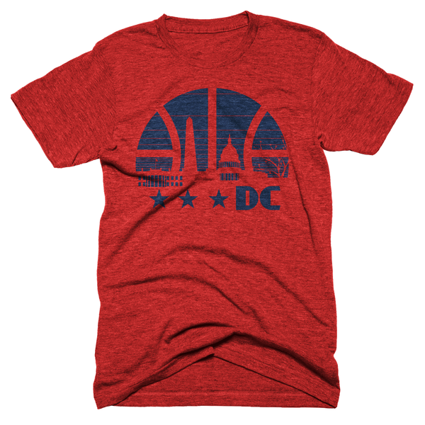 Washington DC basketball skyline shirt