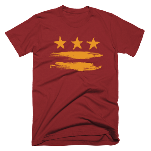 Gold on Burgundy DC Flag T-shirt