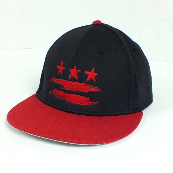4b1f765d6aa Washington DC Flag Black and Red Fitted Flat Brim Hat – Sneekis