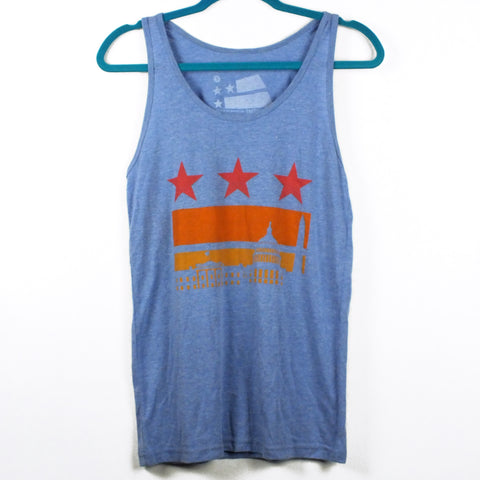 Washington DC Sunset Flag Tank Top