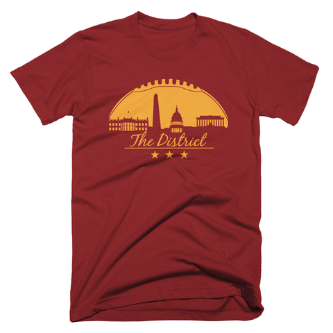 Washington DC Football Skyling tShirt