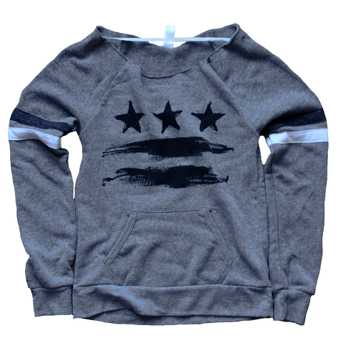 Washington DC Flag Women's Sweatshirt
