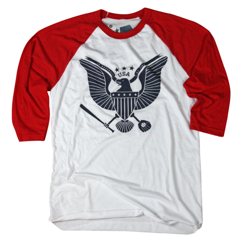 USA baseball Raglan shirt