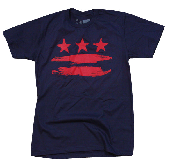 Navy & Red Washington DC FLAG T-Shirt