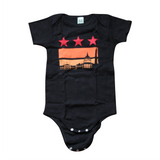 Washington DC sunset Flag Onesie