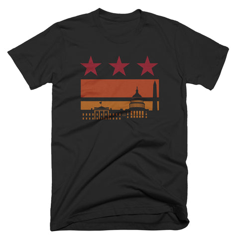 Washington DC Sunset Flag Shirt