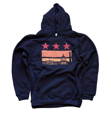 Washington DC Sunset Flag Hoodie
