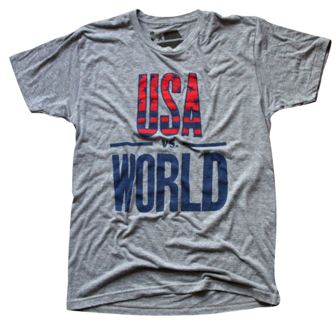 USA vs the world tshirt