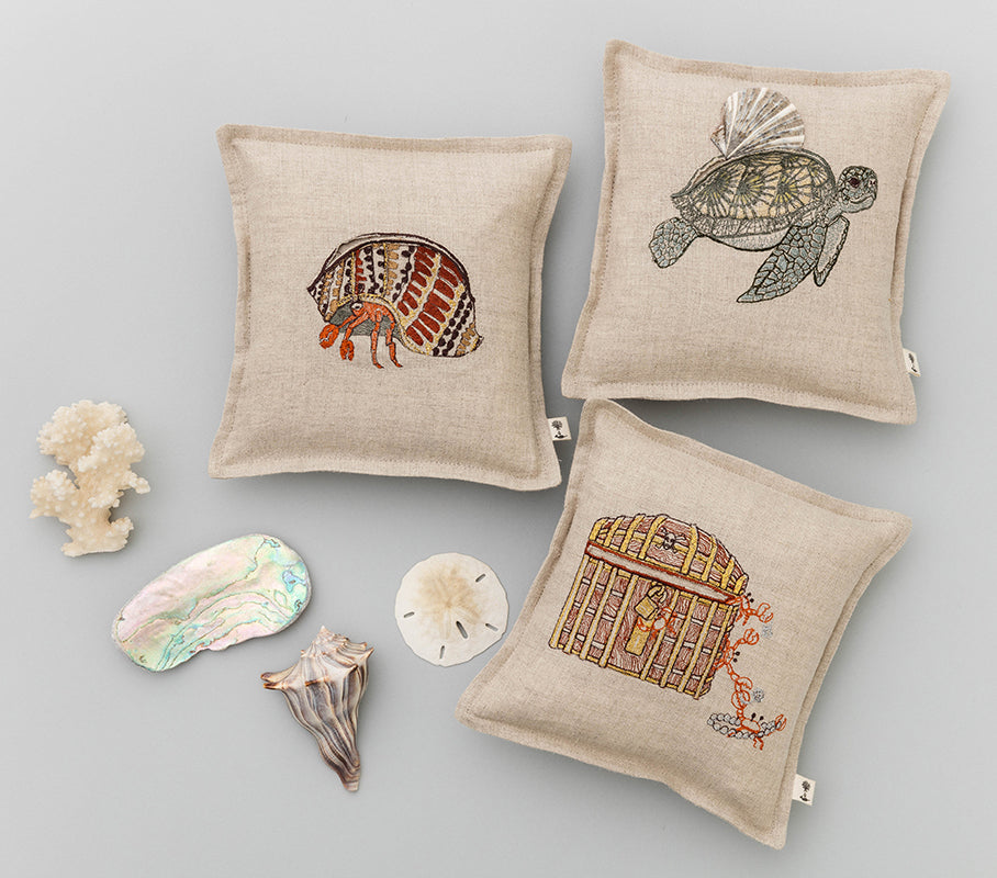 Coral & Tusk Tooth Fairy Treasure Pillows