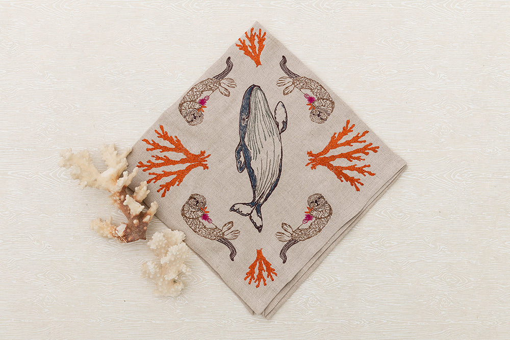 Coral & Tusk Coral Forest Dinner Napkin
