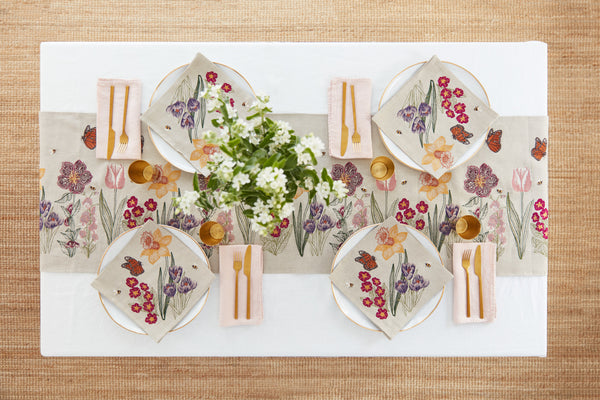 Coral & Tusk Blooms Table Linens