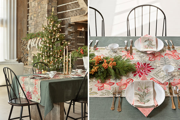 Coral & Tusk Poinsettia Table Linens