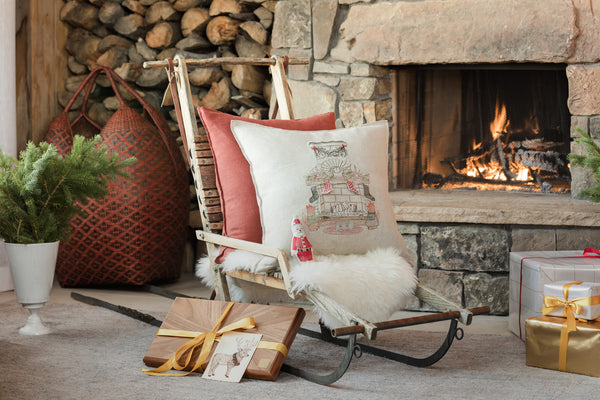Coral & Tusk Chimney Santa Pocket Pillow