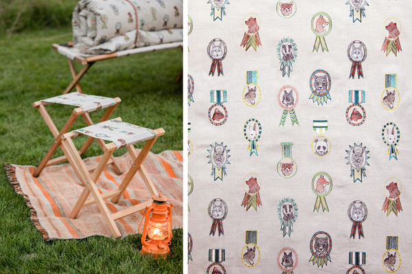 Coral & Tusk Camp Chairs Champs Fabric
