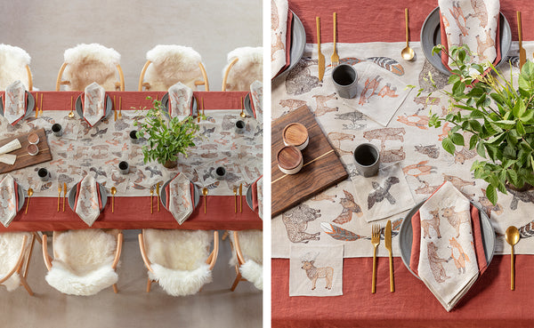Coral & Tusk Kinship Table Settings for Thanksgiving