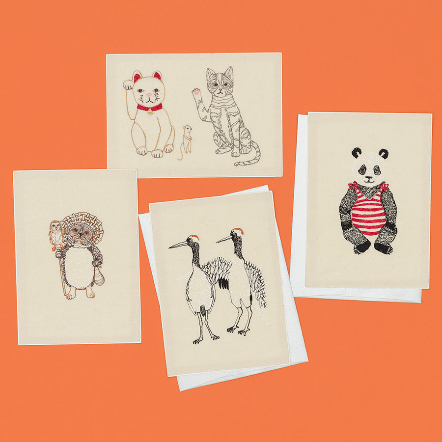 coral_and_tusk_lucky-cats-panda-bear-cranes-lucky-raccoon-stationery