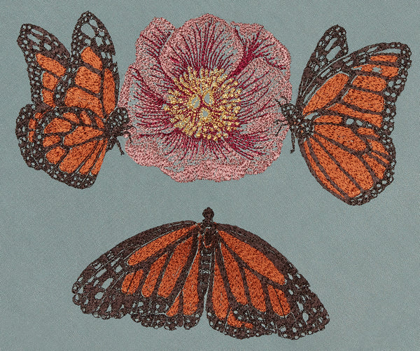Coral & Tusk Monarch Butterflies