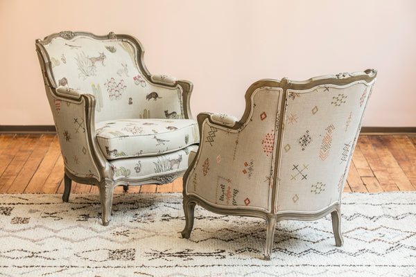 Coral & Tusk Upholstered Desert Fabric Chairs