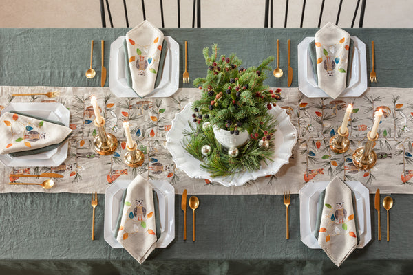Coral & Tusk Christmas Tree Trimmers Table Linens