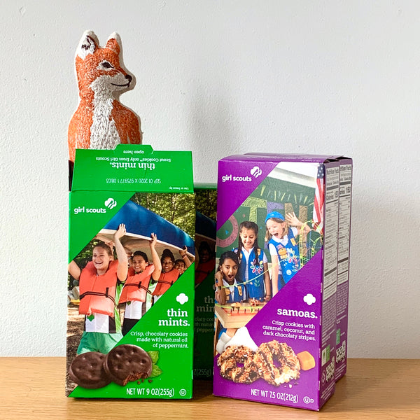 Fox loves Girl Scout Cookies!