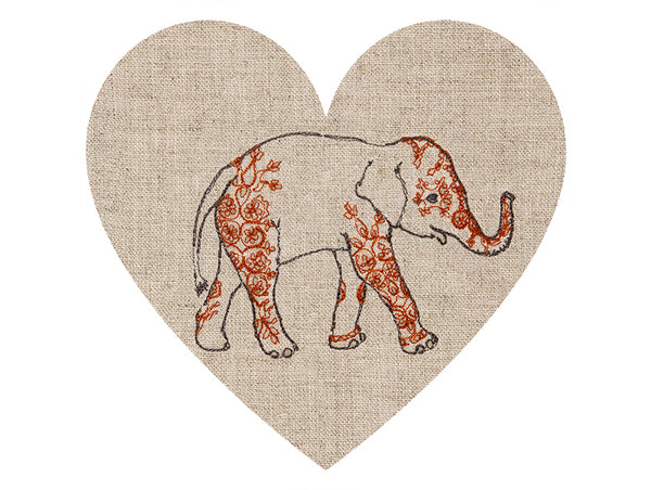 Coral & Tusk Embroidered Elephant