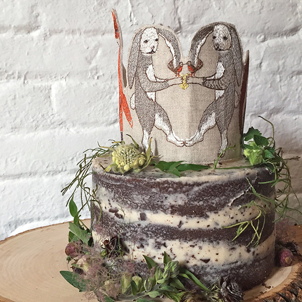 Coral and Tusk Woodland Cake Topper