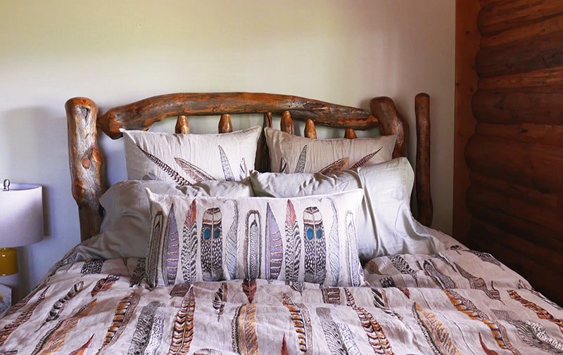Coral & Tusk Embroidered Feather Bedding