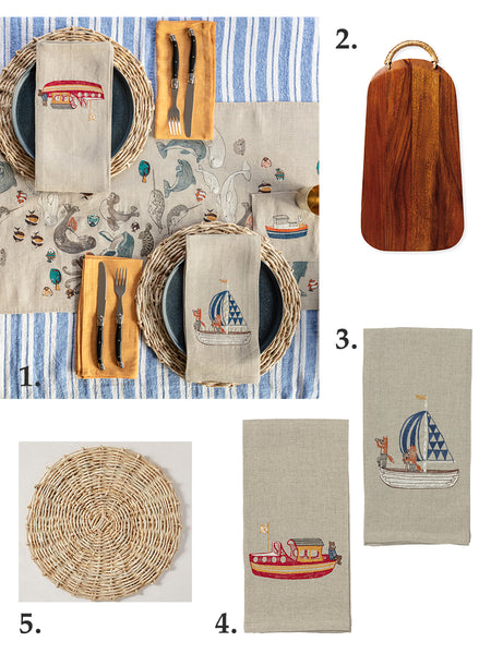 Get the Look: Coral & Tusk Nautical Tablescape