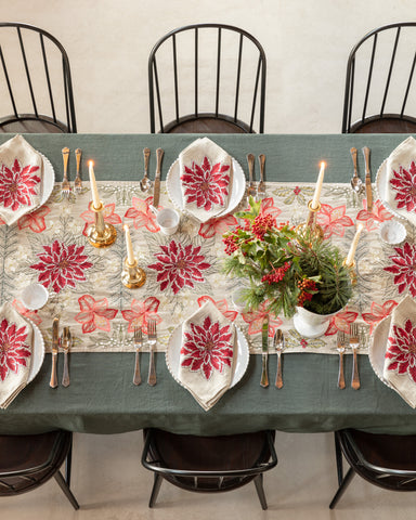 Coral & Tusk Christmas Flowers Linens