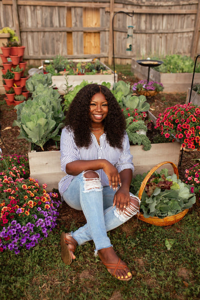 Jasmine from Black Girls with Gardens image by Natalie Allgyer