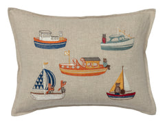 "Coral & Tusk Boats Pillow 12"" x 16"""