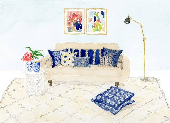 Lynsey Erin Illustration - Coral & Tusk pillows