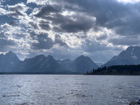 Grand Tetons boat ride view