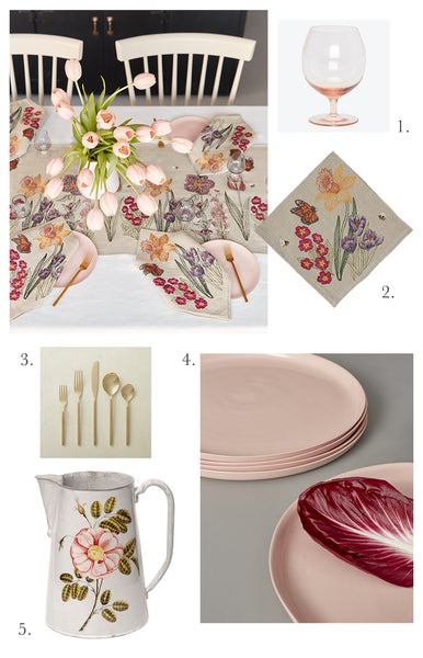 Coral & Tusk Blooms Table Setting Inspiration