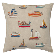"Coral & Tusk Boats Pattern Pillow 20"" x 20"""